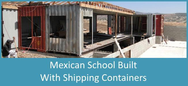 mexican school built with shipping containers