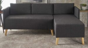 Christopher Knight Home Andresen Mid Century Modern Fabric Chaise Sectional