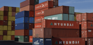 stacks of different sized shipping containers