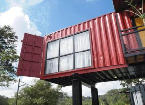 Elevated Shipping Container Home