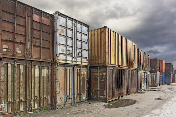 Old Rusty Shipping Containers