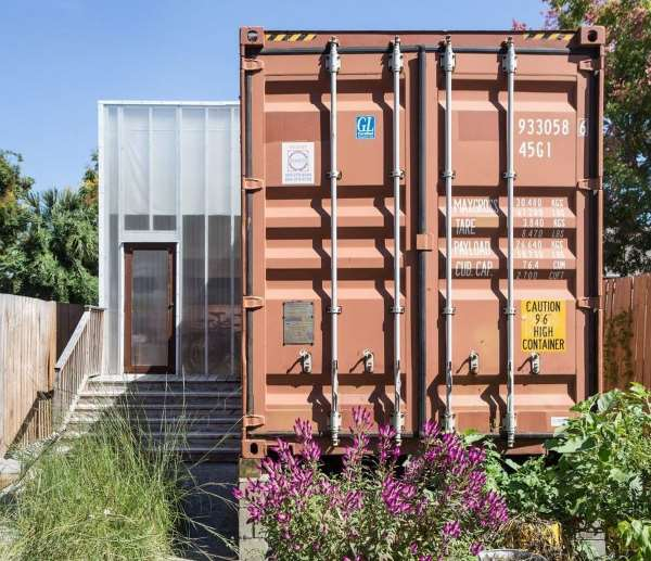 The Completed Container Home Contains One Bedroom, A Bathroom, Kitchen,  Office And Living Area.