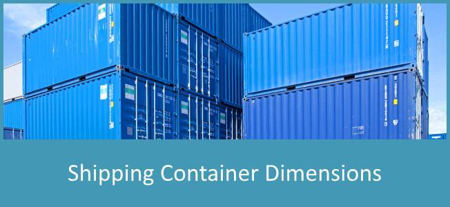 Shipping Container Dimensions Discover Containers