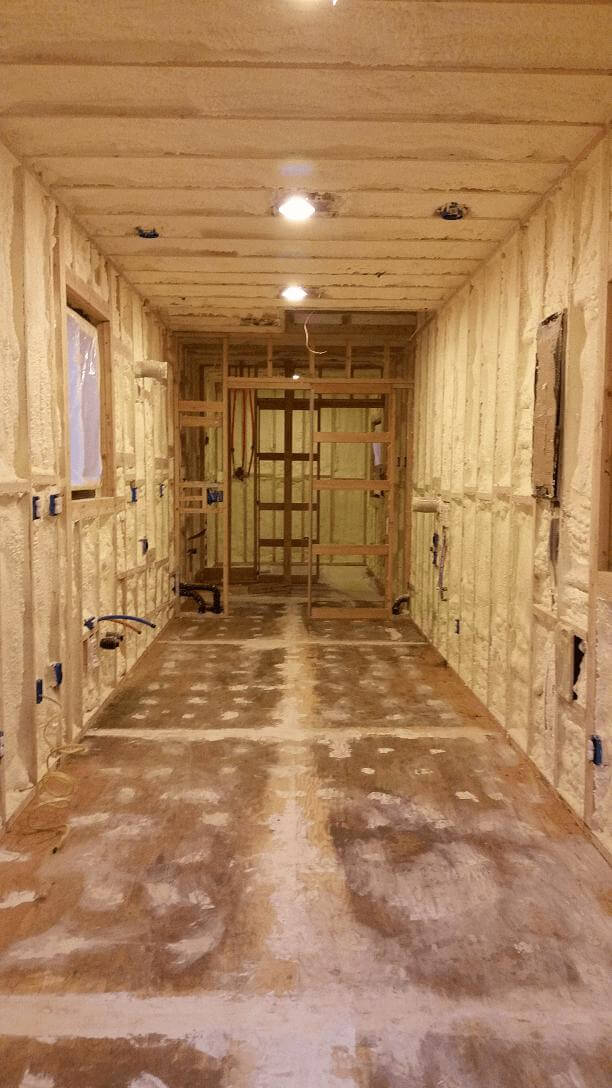 Shipping Container Home Mid Construction Insulation