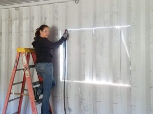 cutting out window with plasma cutter