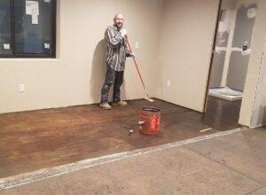 coating the floors