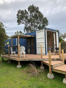 Modern Container Home with Deck