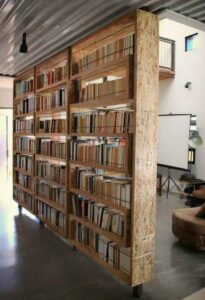 double sided bookshelf
