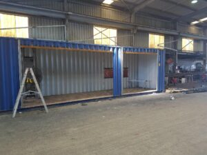 factory modified shipping container