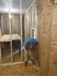 Framing and interior insulation