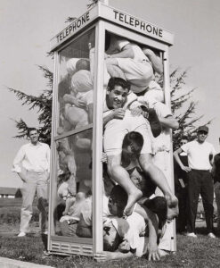 cramming in a telephone booth