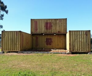 Four containers